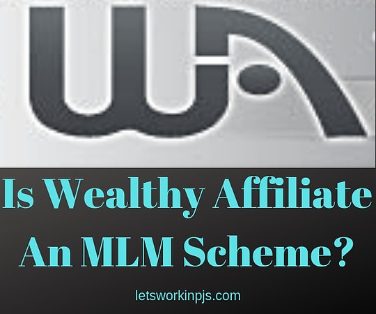 is Wealthy Affiliate an MLM scheme