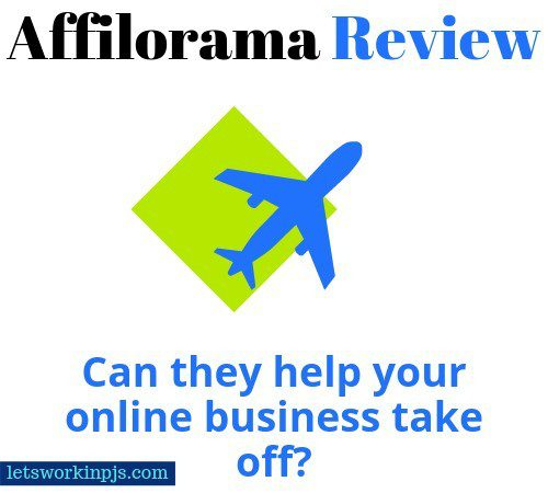 Affilorama review image of airplane and text that reads affilorama review